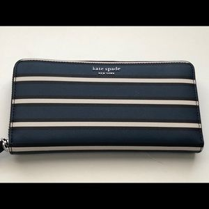 Kate Spade NY Cameron York Striped Large Wallet